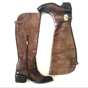 Vince Camuto Beatrix Harness Brown Riding Boots
